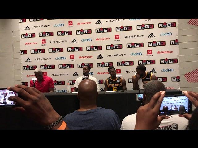 BIG 3 — KILLER 3's Press Conference   Atlanta   7/7/19