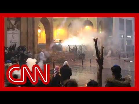 Protests turn violent in streets of Beirut, Lebanon