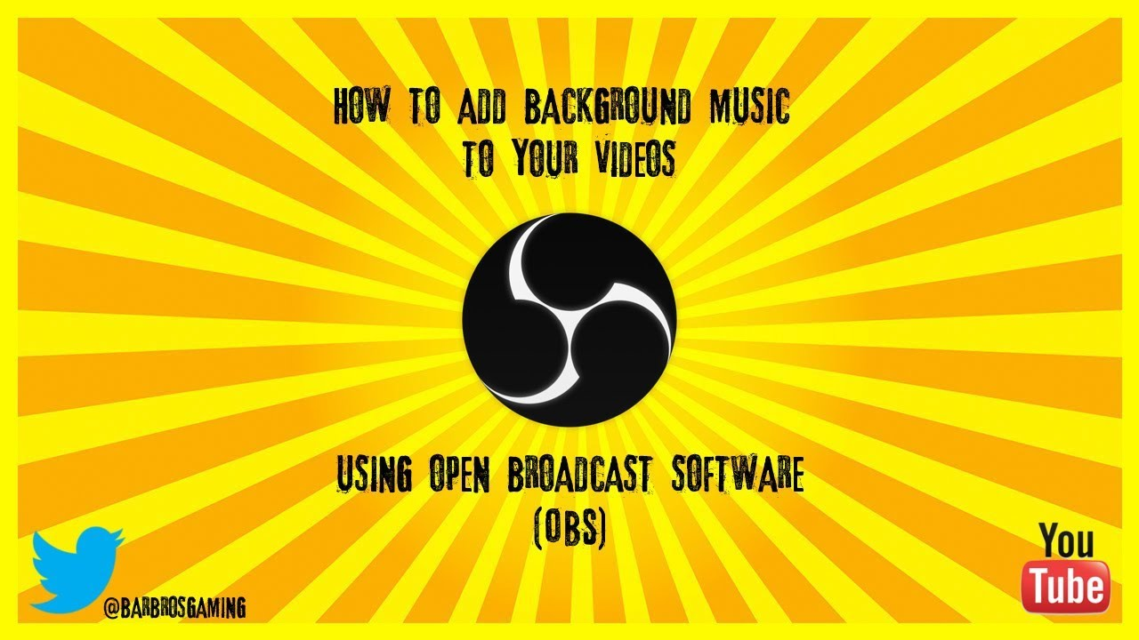 How To Add Background Music Using Obs Youtube