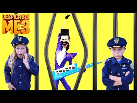 Thumbnail: Universal Despicable Me 3 Gru vs Bratt with Kid Cops and Assistant Silly Funny YouTube Kids Video