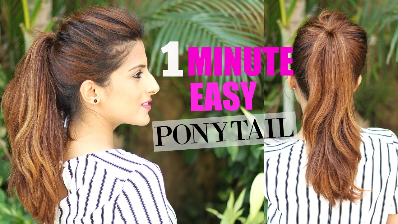 The Perfect High Ponytail For School College Work No Teasing No