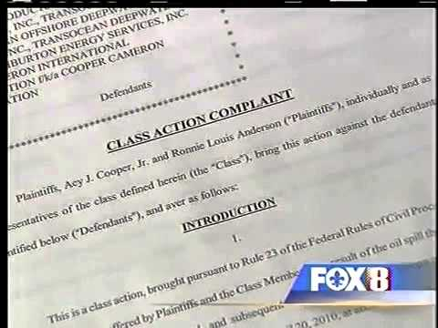 Class Action Lawsuit Filed in BP Oil Spill Disaster April 29, 2010 WVUE