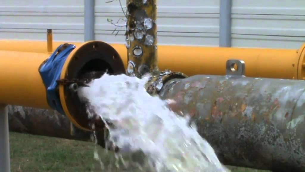 Pipeline cleaning with foam pig youtube