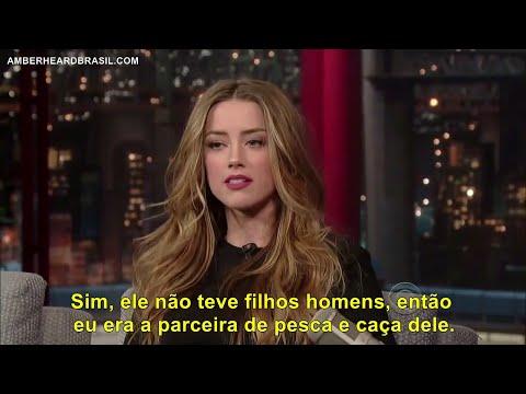 Amber Heard no David Letterman LEGENDADO PTBR