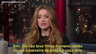 Amber Heard no David Letterman (LEGENDADO PT/BR)