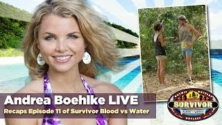 Andrea Boehlke LIVE Interview to Recap Survivor Blood vs Water Episode 11