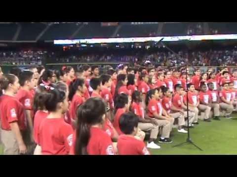PEARL HALL ELEMENTARY ASTROS CHOIR 2015 NATIONAL ANTHEM PERFORMANCE1 MPG