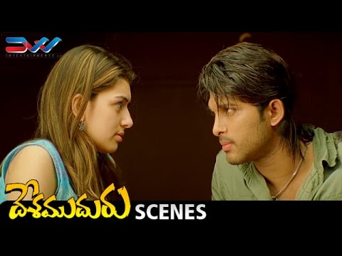 Allu Arjun Meets Hansika | Desamuduru...