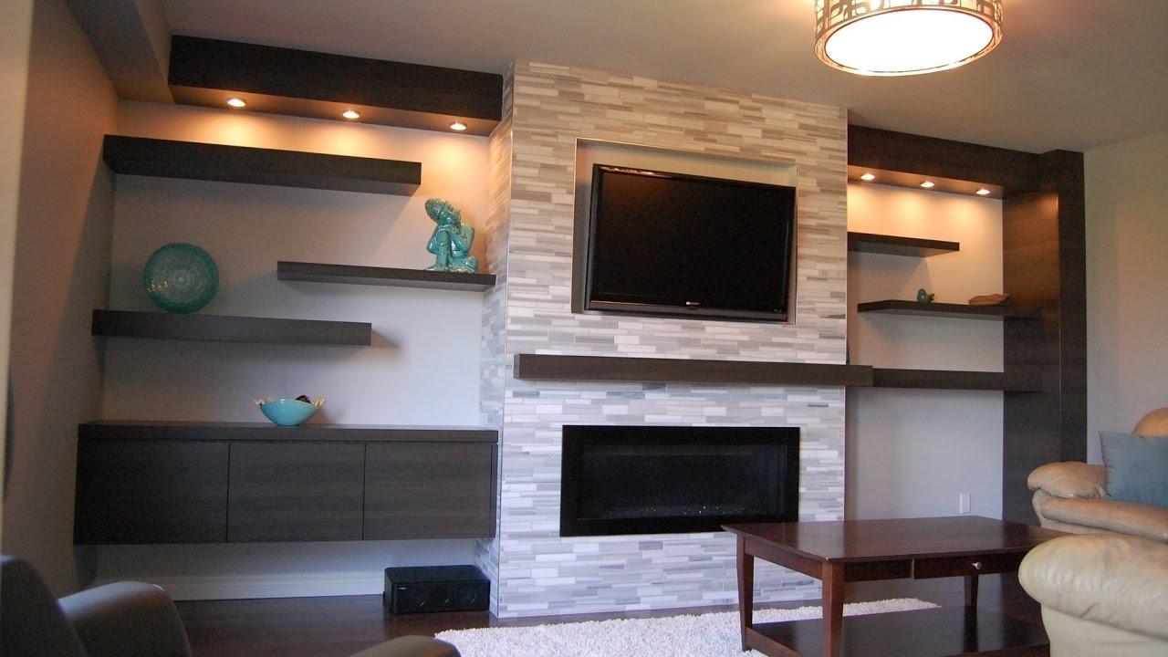 Wall Mounted TV Shelves - YouTube
