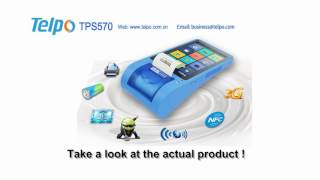 Tps570,is a simple but eleglant smart pos terminal.with high-speed printer and multi-support nfc reader,it is applied in many fields,like lottery, loyalty pr...