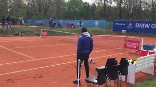 Marco Cecchinato warm up and practice 2019 munich