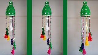 DIY: Plastic Bottle Crafts!!! How to Make Beautiful Waste Bottle Hanging For Home Decoration!!!