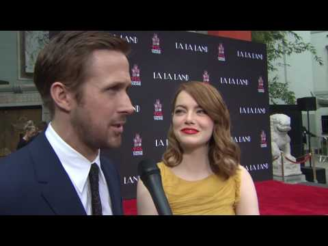 Ryan Gosling & Emma Stone Hand & Footprint Ceremony Interivew