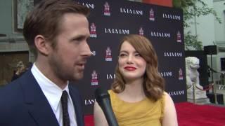 Ryan Gosling & Emma Stone Hand & Footprint Ceremony Interivew