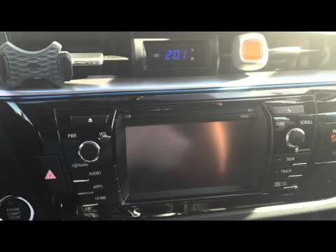 PROBLEM WITH 2014 TOYOTA COROLLA  NAVIGATION SYSTEM