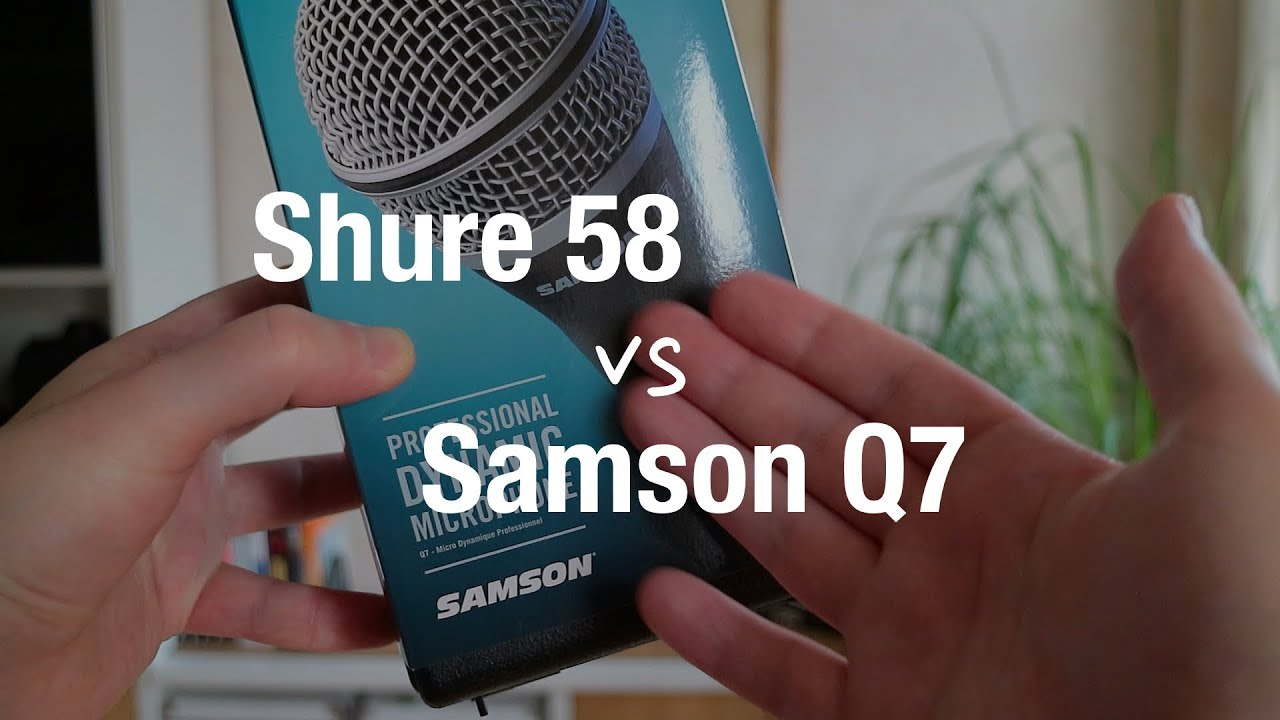 Samson Q7 vs Shure SM58 - Dynamic Microphone Review