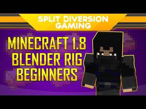 Minecraft Blender Tutorial - SplitDiversion's Minecraft 1.8 Rig