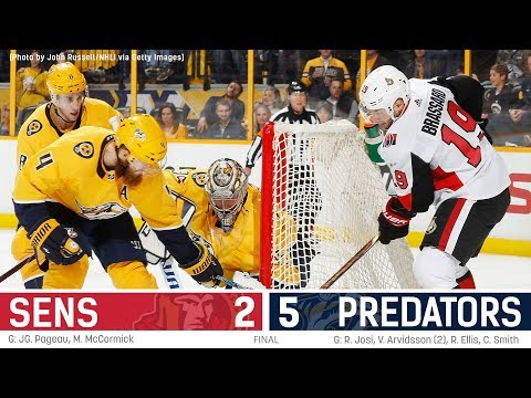 Sens vs. Predators - Players Post-game