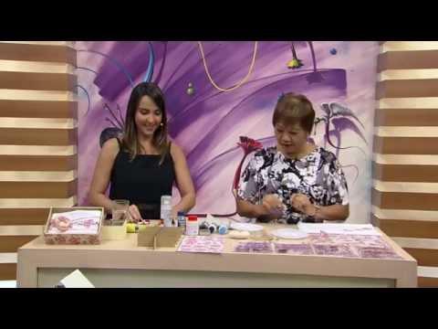 Mulher.com - 17/10/2016 - Decoupagem na toalha, sabonete e caixa - Mamiko Yamashita P1