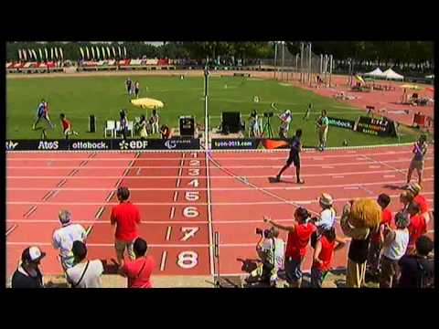 Athletics - 4x100m media race - Agitos Foundation - Lyon 2013