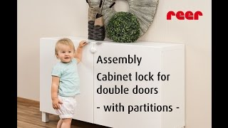 reer Cabinet lock for double doors (item no. 71020) - with partitions -