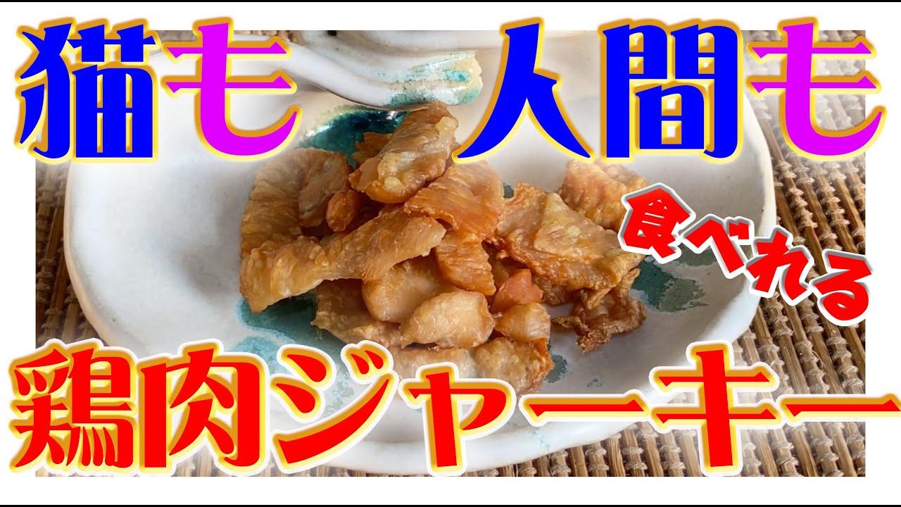 【超簡単】人間も猫も食べられる!!鶏肉ジャーキーの作り方!