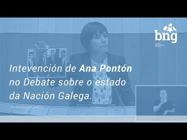 Intervención de Ana Pontón no Debate sobre o estado da Nación Galega