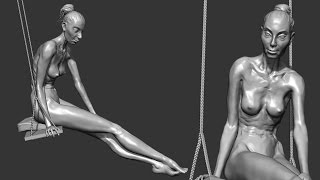 zbrush sculpting from live modele #10