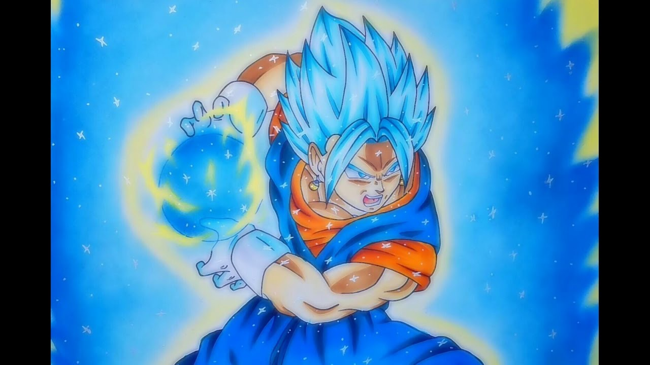 Dibujando A Vegetto Ssj Dios Azul. Drawing Vegetto Ssj