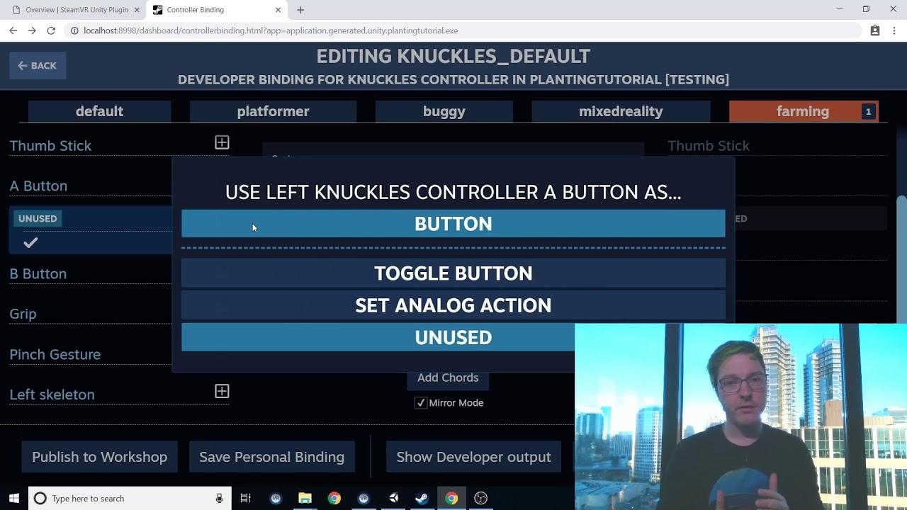 SteamVR Unity Plugin - SteamVR Input - Planting Tutorial