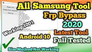 Free Samsung FRP Tool 2020 | Working All Samsung  FRP Bypass Full Tested Working 100% 2020 in Hindi