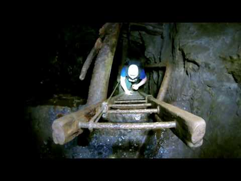 A visit to a Derelict Goldmine in Wales filmed on an AEE S70 by torchlight