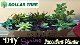 DIY SPRING SUCCULENT PLANTER | DOLLAR TREE DIY | SPRING 2018