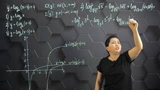 Логарифмдік функция, оның қасиеттері және графигі. Практикалық бөлім. 11 сынып.