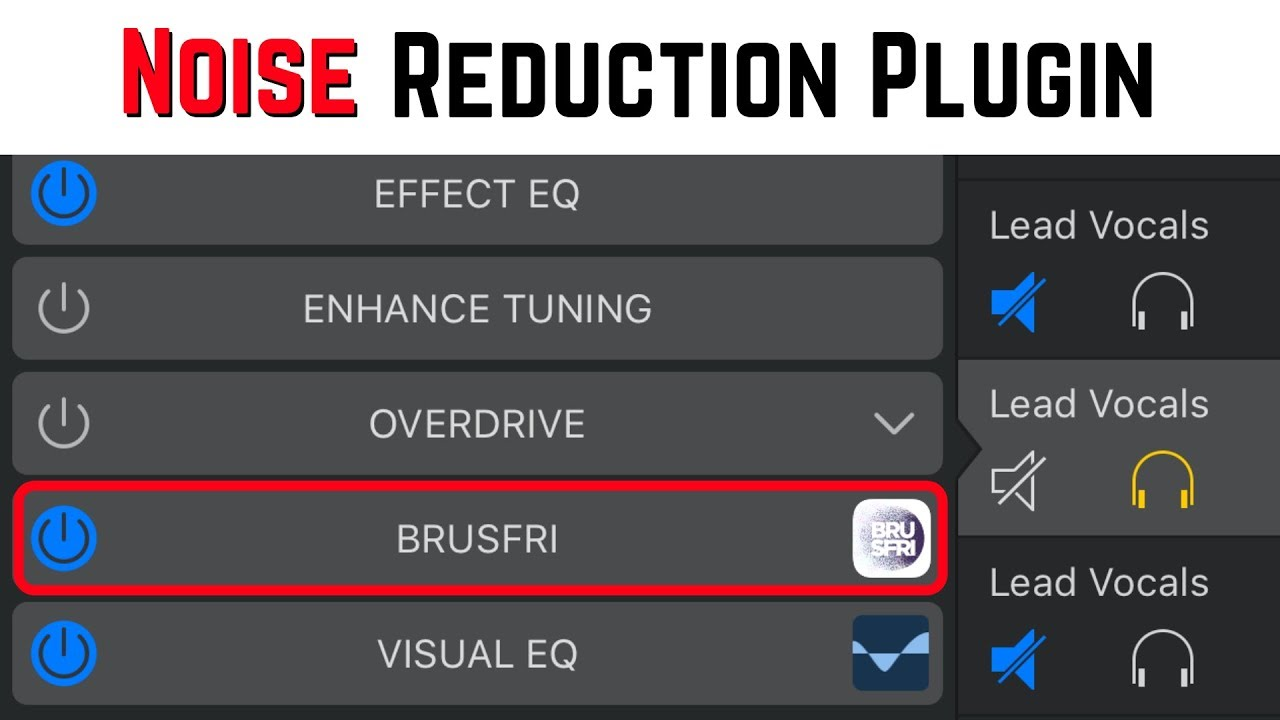 Noise Reduction Plugin For Iphone Ipad Brusfri By Klevgrand Youtube