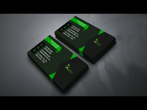 Dark Light Business Card Design - Photoshop CC Tutorial