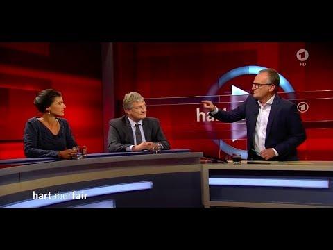 Hart aber Fair - Wagenknecht flirtet mit AfD & Meuthen: