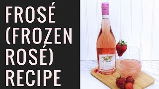 Frosé (Frozen Rosé) Recipe in an Ice Cream Maker