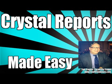 Crystal Reports - Using Report Sections - Crystal Reports Section Expert - Tutorial For Beginners