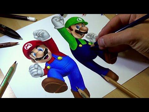 drawing mario and luigi youtube