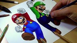 Drawing Mario and Luigi
