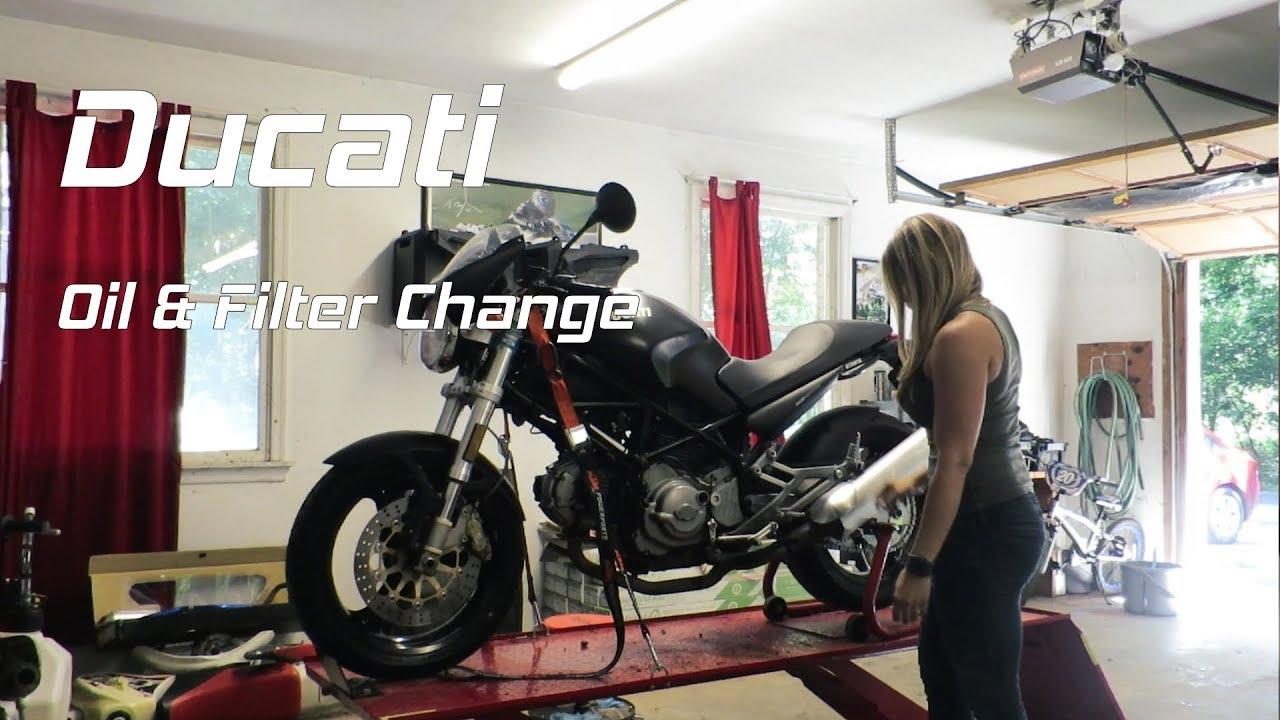 ducati monster oil change | back in the garage - youtube