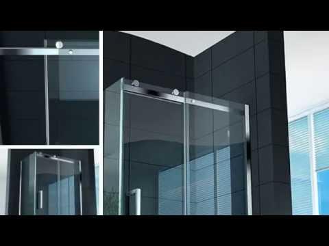 Box doccia trasparente diamond cristallo temprato 8mm 110x80 120x80 140x80 youtube - Mondial box doccia ...