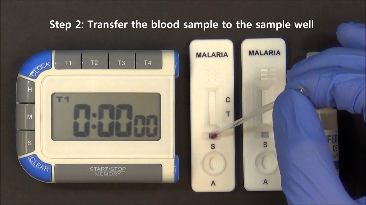 how to use malaria test kit