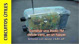 Cómo hacer una RADIO FM casera #TupperElectrónica. TDA7000. Circuitos ÚTILES 10.