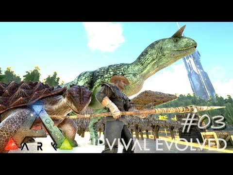 Ark Survival Evolved Ep 03 - Game Changing - Tamed Carno !!! (Server Let's Play)