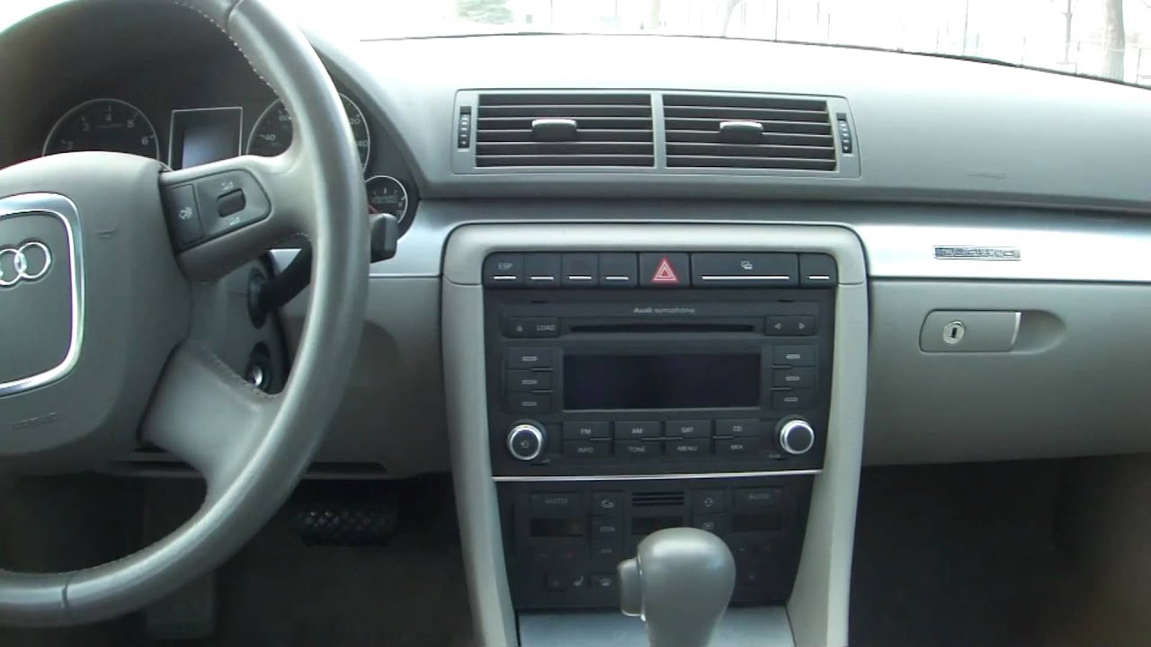 2007 audi a4 2.0t quattro interior.m2ts - youtube