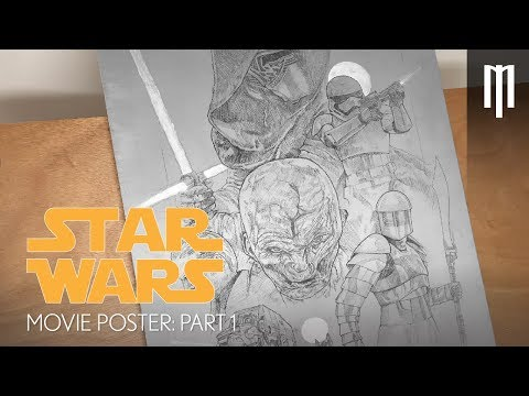 Creating Star Wars First Order Movie Poster Part 1