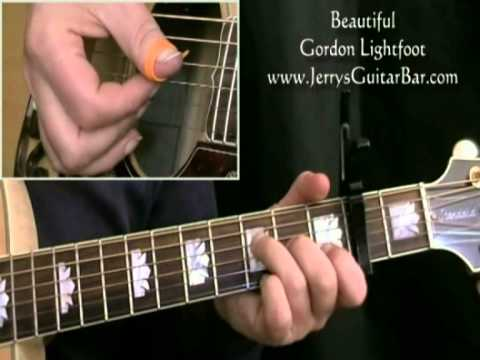 How To Play Gordon Lightfoot Beautiful Intro Only Youtube