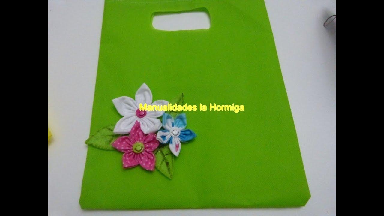 Tutorial bolsas ecologicas material Kambrel, Empaques para Regalos,Hormiga Manual YouTube